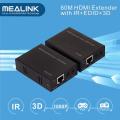 50m sobre o único extensor de Cat5e / 6 HDMI (3D + EDID + IR bidirecional)