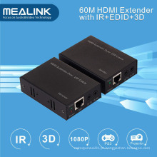 Extensor HDMI de 60 m por Single Cat5e / 6 (3D, IR, EDID)