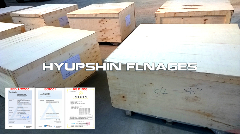 Hyupshin Flanges Flanges Plywood Box Case Shipment