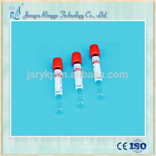 Tubo de ensaio de sangue com tampão de vácuo de uso único