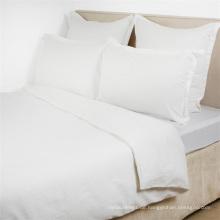 Weiche bequeme 100% Baumwolle weiße Ebene Doona Cover Bettbezüge