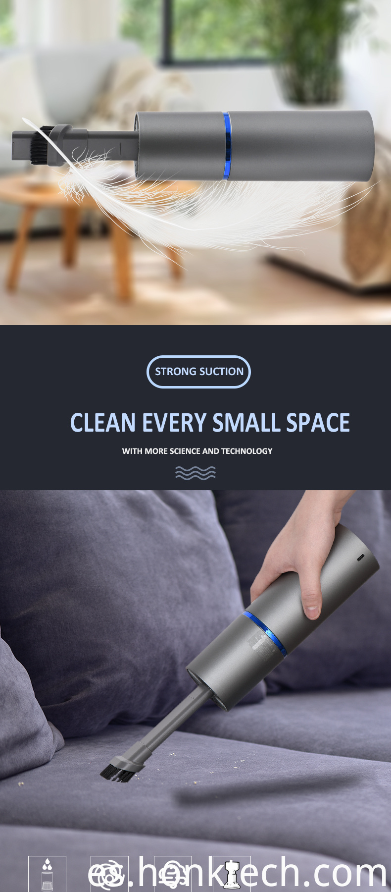 dust blower vacuum cleaner mini portable handheld keyboard cleaner car Bed Soft Strong Power and USB Rechargeable wireless use