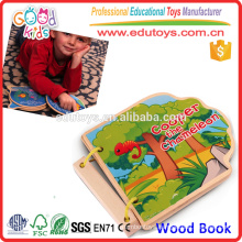 2015 New Product Farm Wooden Book Educational Hot Selling Toy