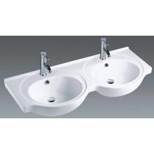Cuarto de baño Cuarto de baño doble de cerámica Cuenca de la vanidad (1201)