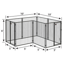 High quality rustproof hot dipped galvanized large dog kennel cage