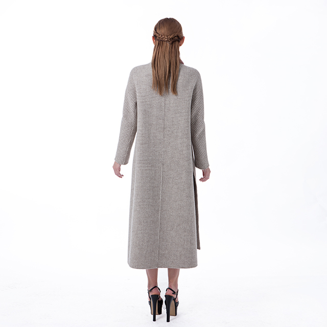 Fashion of long cashmere overcoat
