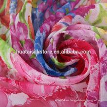 100% tela de seda impresa digital para la bufanda o la ropa