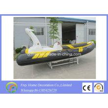 Yate de pesca de fibra de vidrio inflable de barco rígido de 5,8 m