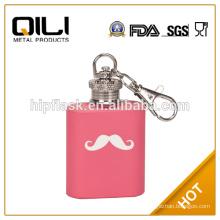 1oz mini flask stainless steel empty perfume bottle