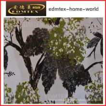 Tecido de cortina com estilo impresso preço barato EDM0563