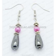 Magnético Hematite Drop Beads Brincos