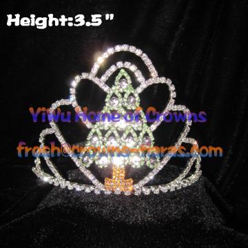 Arbre en forme de couronne Pageant---Mini sapin de Noël