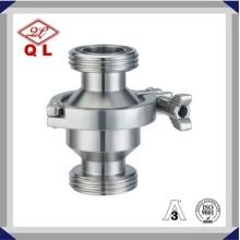 Vannes de contrôle sanitaire en acier inoxydable en acier inoxydable de 6 pouces