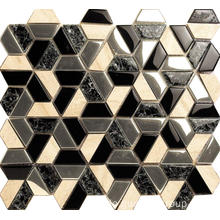 Hexagon Design Glas Mosaik