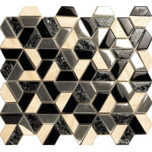 Hexagon Design Glass Mosaic
