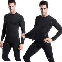 Camiseta de entrenamiento elástica alta para hombres Camiseta de entrenamiento para gimnasio