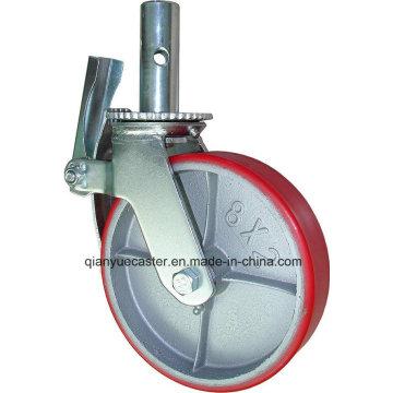 Roulette d'échafaudage avec roue en acier moulé en polycarbonate 6in 8in