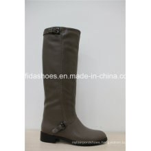 Fashion Comfort Flat PU Women Boots with Simple Designs
