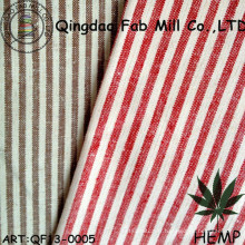 Tissu à rayures de coton bio (QF13-0005)