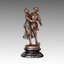Dancer Statue Ballroom/Social Dancing Bronze Sculpture, Gaudez TPE-398