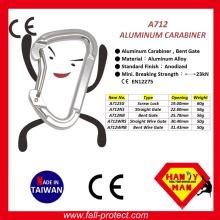 Bent Wire Gate 23KN Aluminium Kletterkarabiner mit Ce Zertifikat