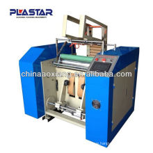 automatic plastic sheet rewinding slitter