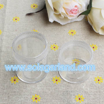 3.2*3.9CM & 3.9&5CM Plastic Cylinder Storage Box Mini Clear Plastic Jewelry Box