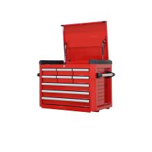 9 gaveta caixa de ferramentas vermelha com corrediças de rolamento
