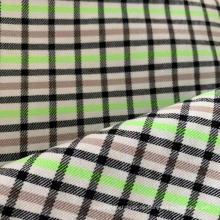 Polyester Viscose Checks High Stretch Stoff