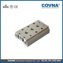 Пневматический четырехполюсный электромагнитный клапан с впускным коллектором Push In Connectors Глушители