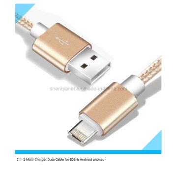 Cable USB del cargador multi del precio de fábrica para Android y iPhone