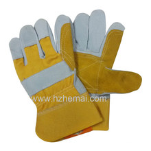 Kuh Split Leder Doppel Palm Handschuh Rigger Sicherheit Arbeitshandschuh