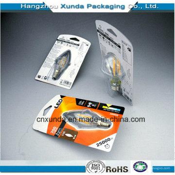 Embalaje de la ampolla de la fuente de la fábrica de China para la bombilla del LED
