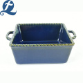 High quality custom printed design printed binaural ceramic bakeware