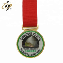 En gros en alliage de zinc personnalisé impression logo or métal médailles de sport