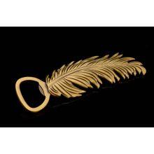 Penas forma ouro banhado a abridor de garrafas de metal (gzhy-bo-004)