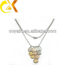 Stainless steel Gold and rose gold plating pendant necklace