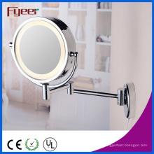 Espelho cosmético conduzido dobro do diodo emissor de luz da luz do sensor do espelho da composição de Fyeer
