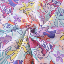 CVC Single Jersey Fabric Custom Printing Флисовая ткань