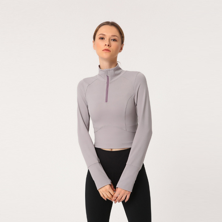 long sleeve yoga crop top hoodie (7)