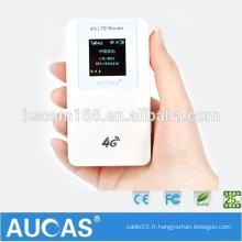 Déverrouillé Mini carte de données sans fil externe 3g 4g wifi modem routeur