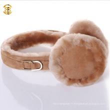 Chaussons d'oreille en fourrure d'hiver en béton ovarien 2016 en hiver