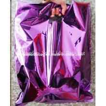Purple Color Printing Die Cut Bag for Garments Packaging