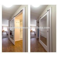 Porta de celeiro espelho deslizante para porta do banheiro do Hotel