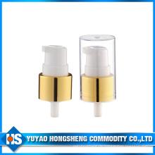 20mm Aluminium Gold Farbe Creme Pumpe für Kosmetik Creme Flasche