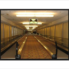 Indoor Moving Walks with Good Quality Sum-Elevator