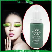 15ml couleur verte couleur cosmétiques sourcils maquillage Pigement