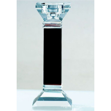 Black Glass Candle Holder Decoration
