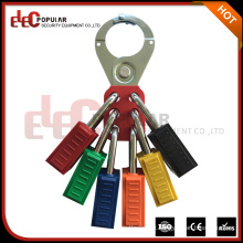 Elecpopular New Products on China Market Safety Steel Seis furos Lockout Hasp Fit for Jaw Diameter 1.5 ""