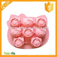 Altamente resistente al calor Durable lindo y encantador molde de silicona de la torta de la forma